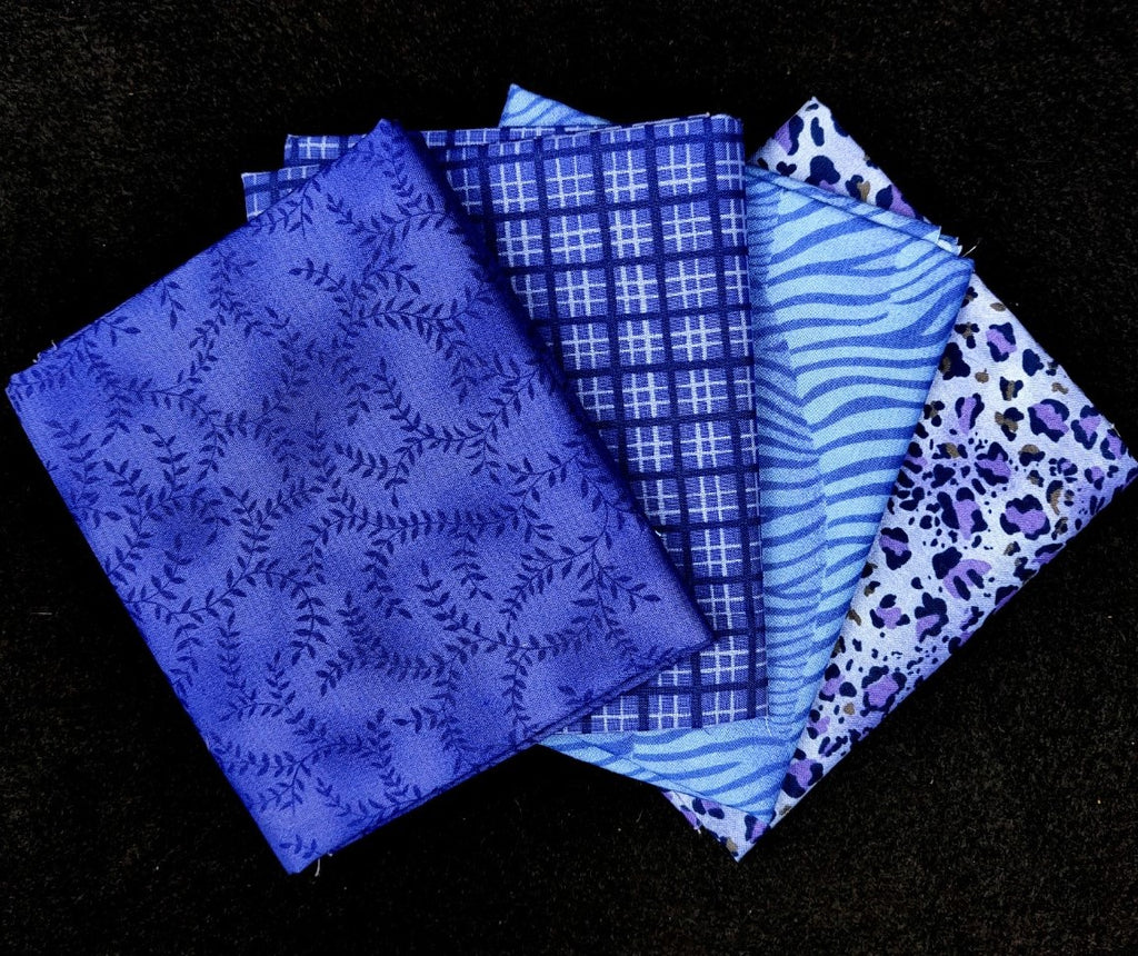 Periwinkle Fat Quarter 4 Pack  Fabric - StoryQuilts.com