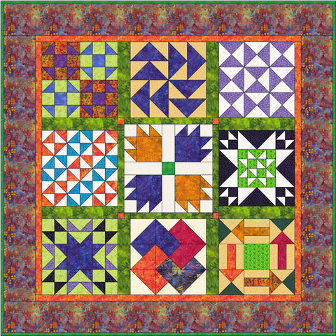 Flowers from Tangiers – Pieced Blocks  Pattern - StoryQuilts.com