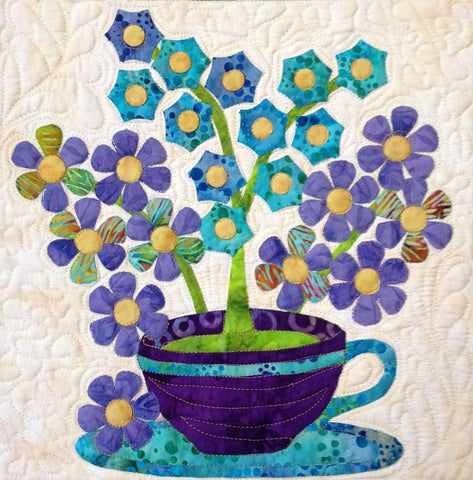 Flowers from Tangiers – Posies  Pattern - StoryQuilts.com
