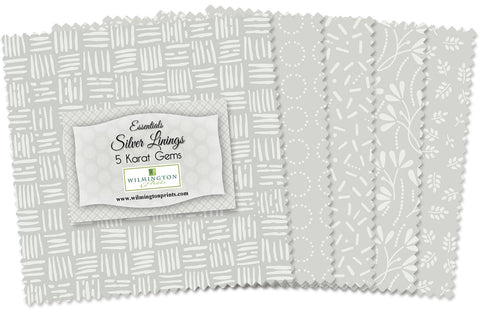 Essentials Silver Linings 5 in Squares  Fabric - StoryQuilts.com