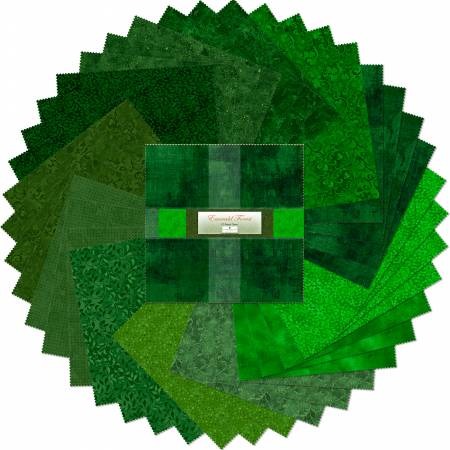 10in Squares Emerald Forest 42 pcs per bundle