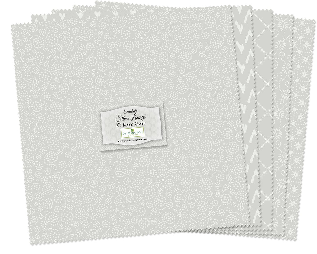 10 in Squares White Out 42 pcs per bundle