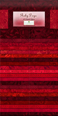2-1/2in Strips Ruby Days 40pcs  Fabric - StoryQuilts.com