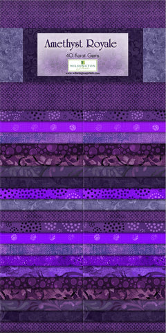 2-1/2 in Strips Amethyst Royale 40pcs per bundle