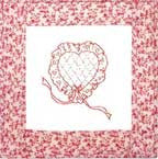 Heart - Redwork  Pattern - StoryQuilts.com