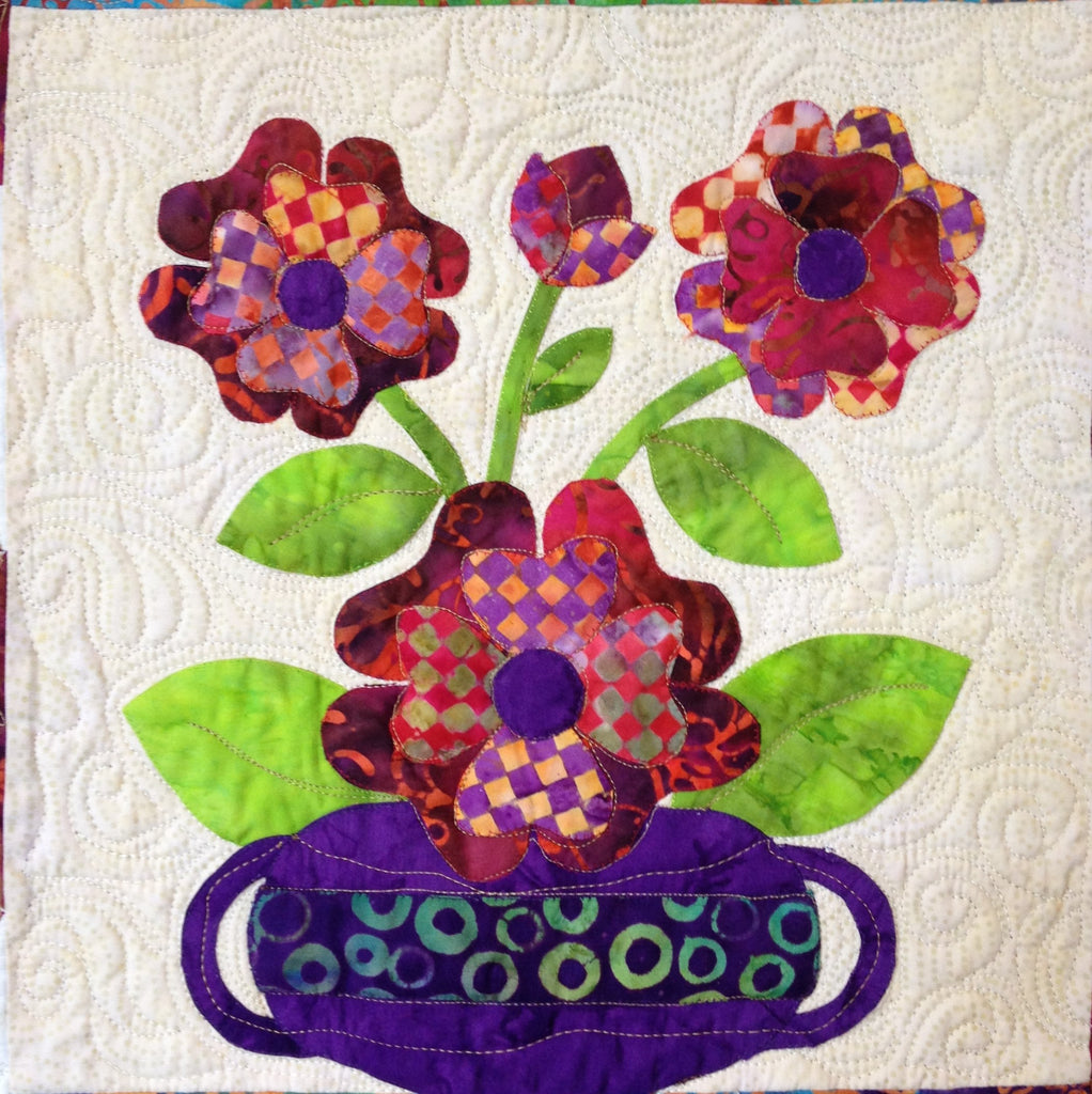 Flowers from Tangiers – Roses  Pattern - StoryQuilts.com