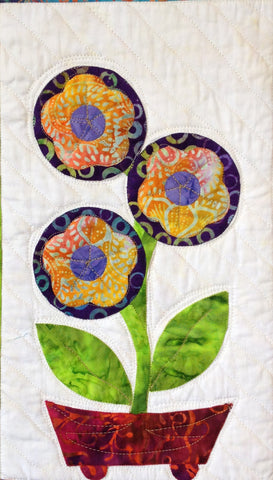 Flowers from Tangiers – Round Flowers  Pattern - StoryQuilts.com