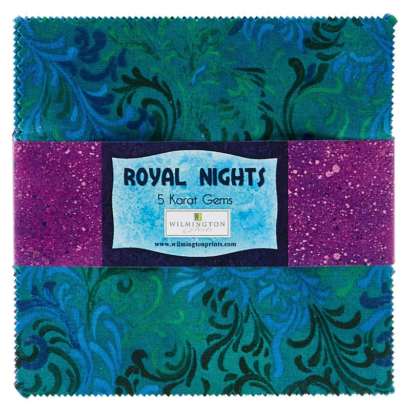 Essential Gems Royal Nights 5in Squares  Fabric - StoryQuilts.com