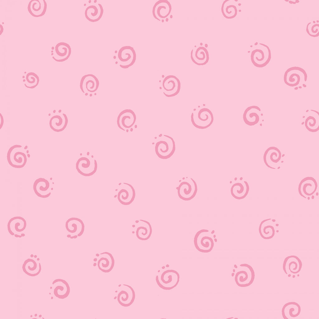 Pink Swirl by Susybee  Fabric - StoryQuilts.com