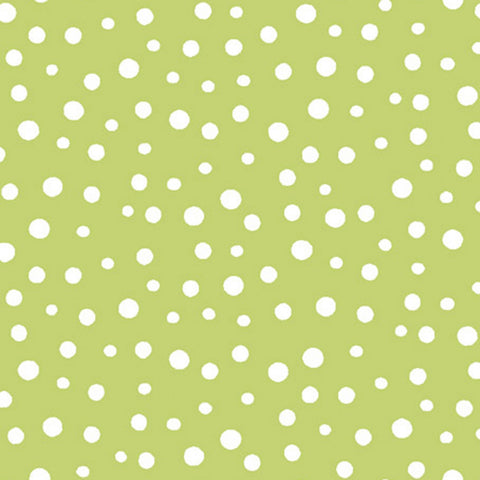 Green Dots by Susybee  Fabric - StoryQuilts.com