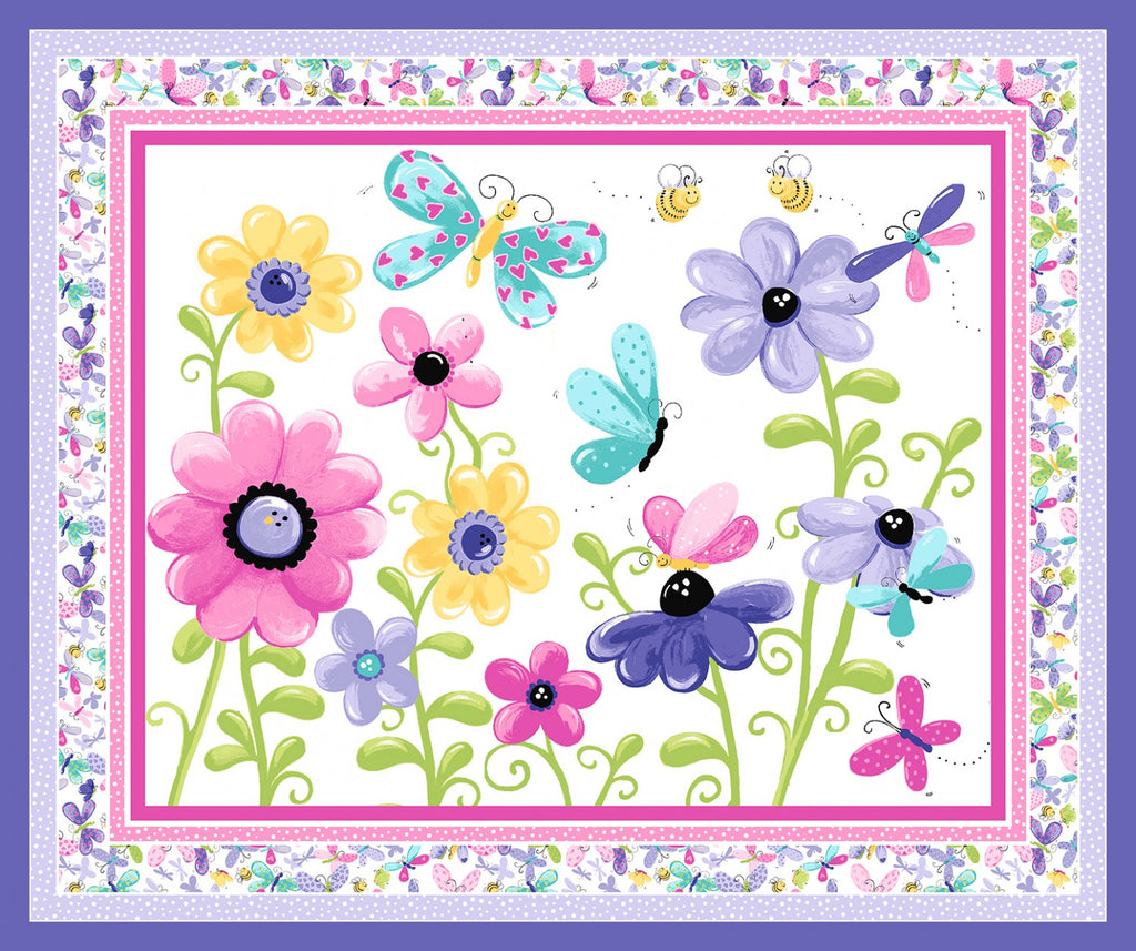 Flutter The Butterfly Play Mat or Wallhanging  Fabric - StoryQuilts.com