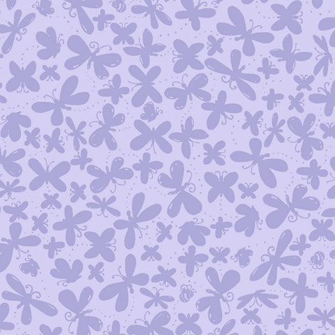 Purple Butterflies Tonal by Susybee  Fabric - StoryQuilts.com