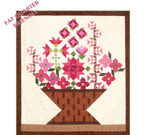 Basket of Posies  Pattern - StoryQuilts.com