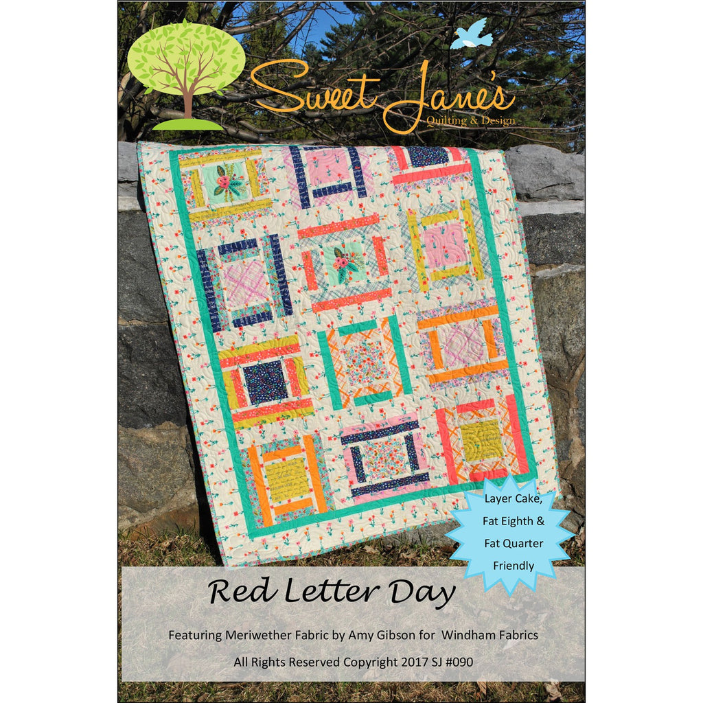 Sweet Jane's Red Letter Day  Pattern - StoryQuilts.com