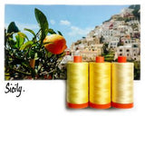Color Builder 3pc Set Sicily Yellow  Thread - StoryQuilts.com
