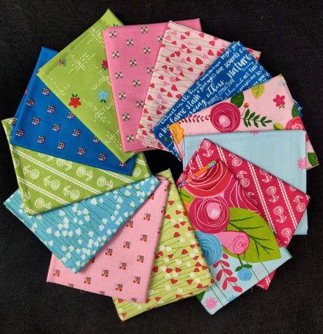 Simply Happy 13 Fat Quarter Pack  Fabric - StoryQuilts.com