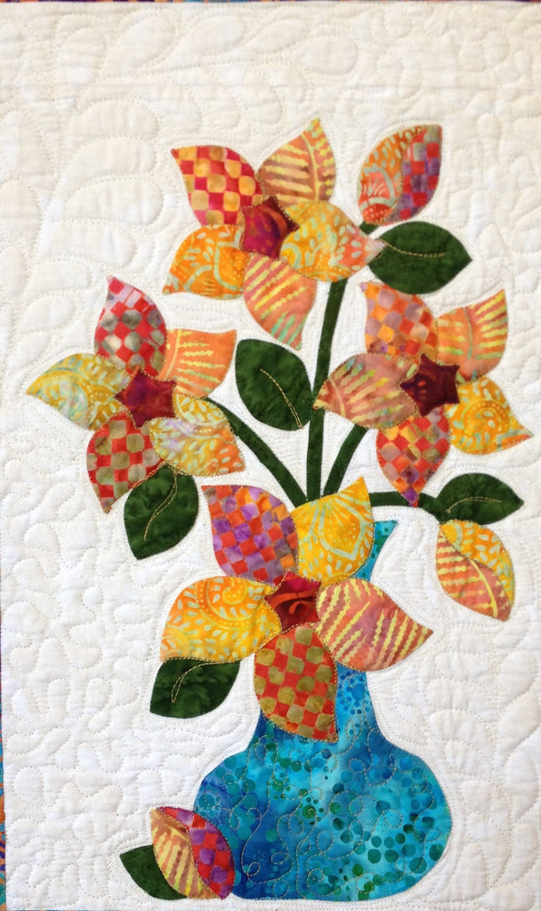 Flowers from Tangiers – Starflower  Pattern - StoryQuilts.com