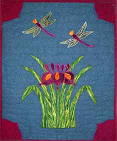 Kit - Summer Iris  Kit - StoryQuilts.com