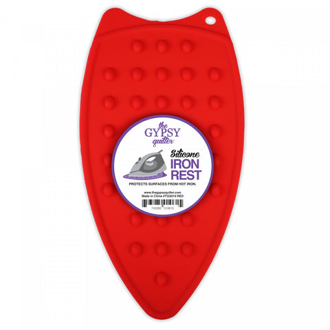 The Gypsy Quilter Silicone Iron Rest Red  Notion - StoryQuilts.com