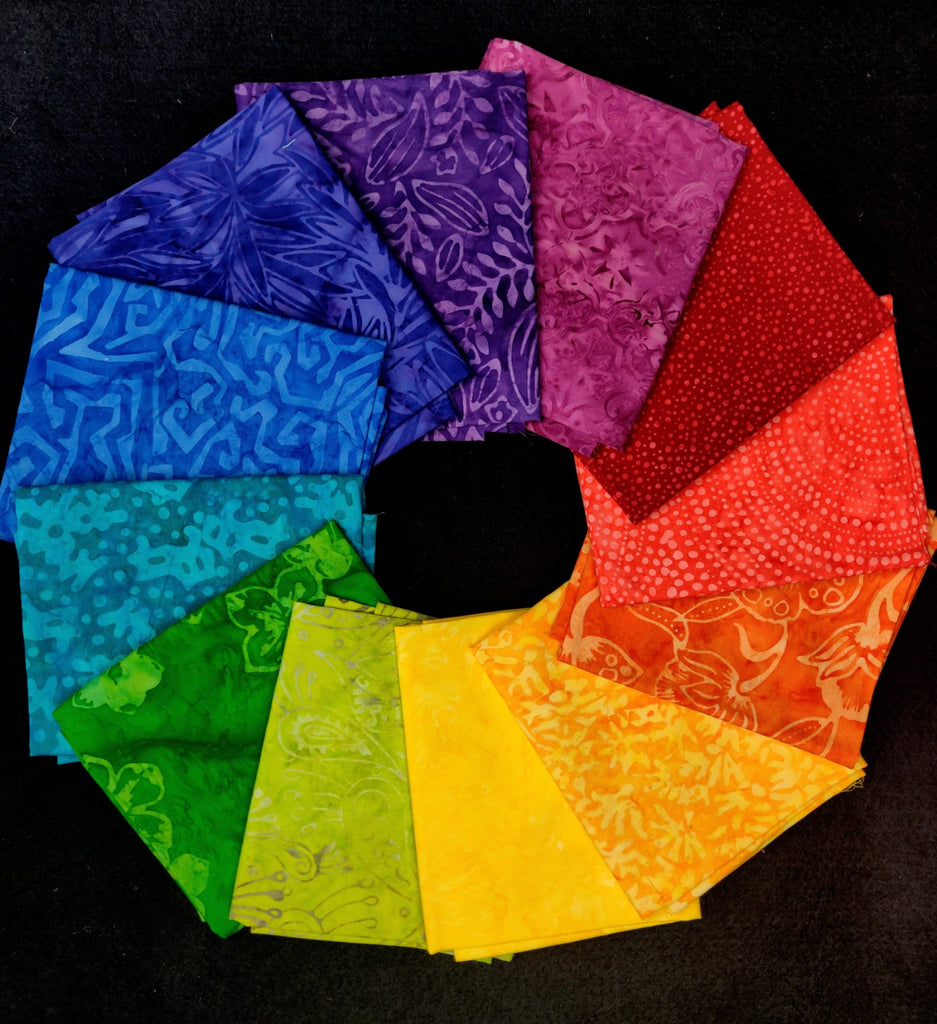 Color Wheel Batiks 12 Fat Quarters  Fabric - StoryQuilts.com