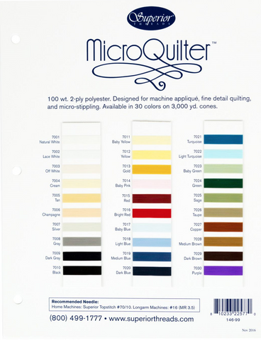 MicroQuilter Color Card  Thread - StoryQuilts.com