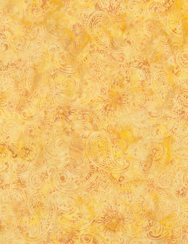 Timeless Treasures Nutmeg Tonga Batiks Flourish Paisley Batik  Fabric - StoryQuilts.com