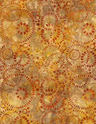 Timeless Treasures Nutmeg Tonga Batiks Bubbles  Fabric - StoryQuilts.com