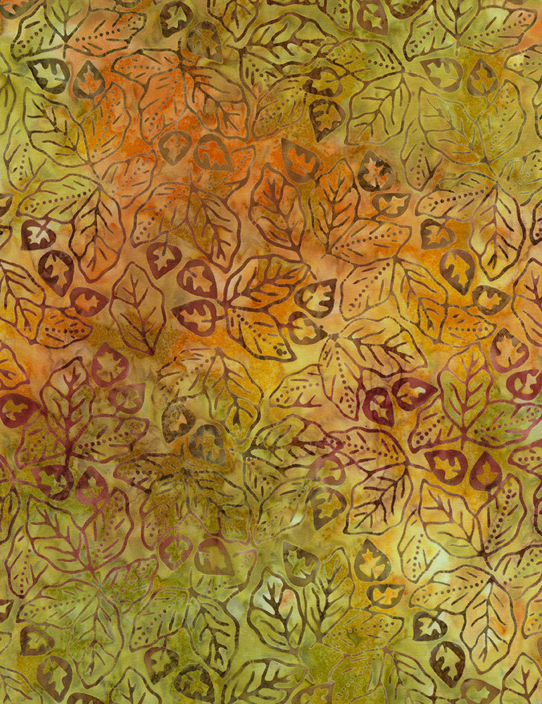Timeless Treasures Nutmeg Tonga Batiks Tropic Batik  Fabric - StoryQuilts.com