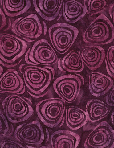Timeless Treasures Tonga Orchid Batiks Swirls - Purple