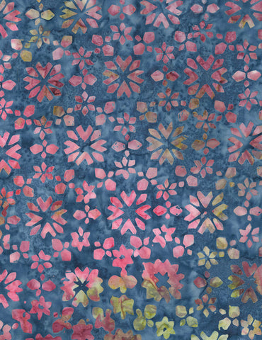 Timeless Treasures Tonga Orchid Batiks Tropic Buds - Laguna