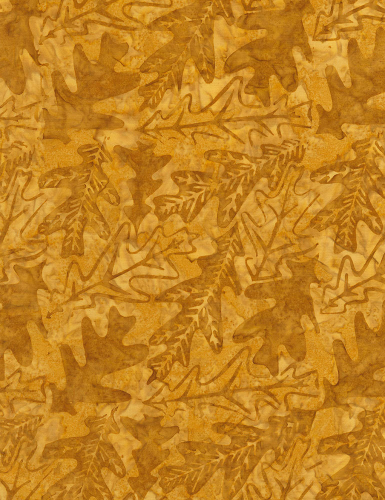 Timeless Treasures Nutmeg Tonga Batiks Oakleaf Batik -  Fabric - StoryQuilts.com
