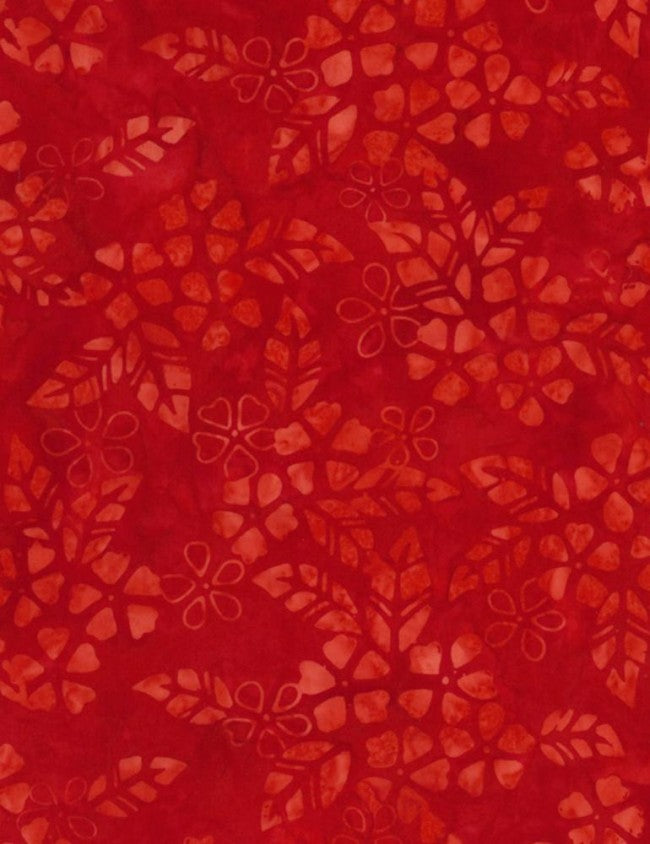 Timeless Treasures Vivid Tonga Batiks Scarlet Bloom
