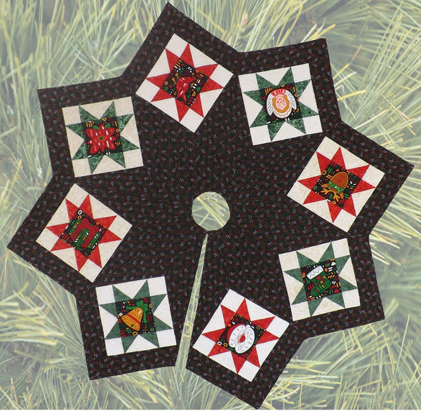 Quilted Christmas Tree Skirt Patterns: Christmas Tree Skirt