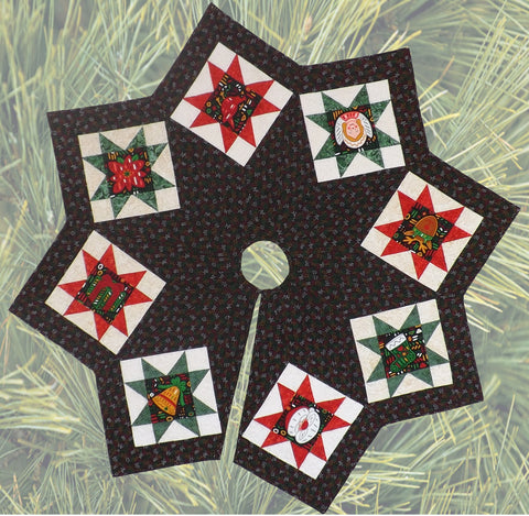 Christmas Tree Skirt  Pattern - StoryQuilts.com