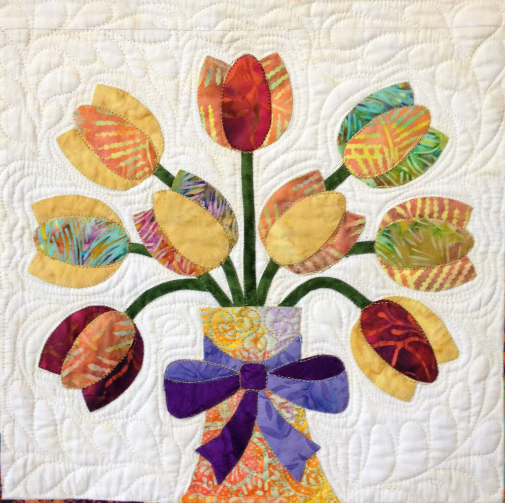 Flowers from Tangiers – Tulips  Pattern - StoryQuilts.com