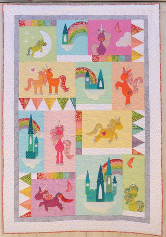 Unicornia  Pattern - StoryQuilts.com