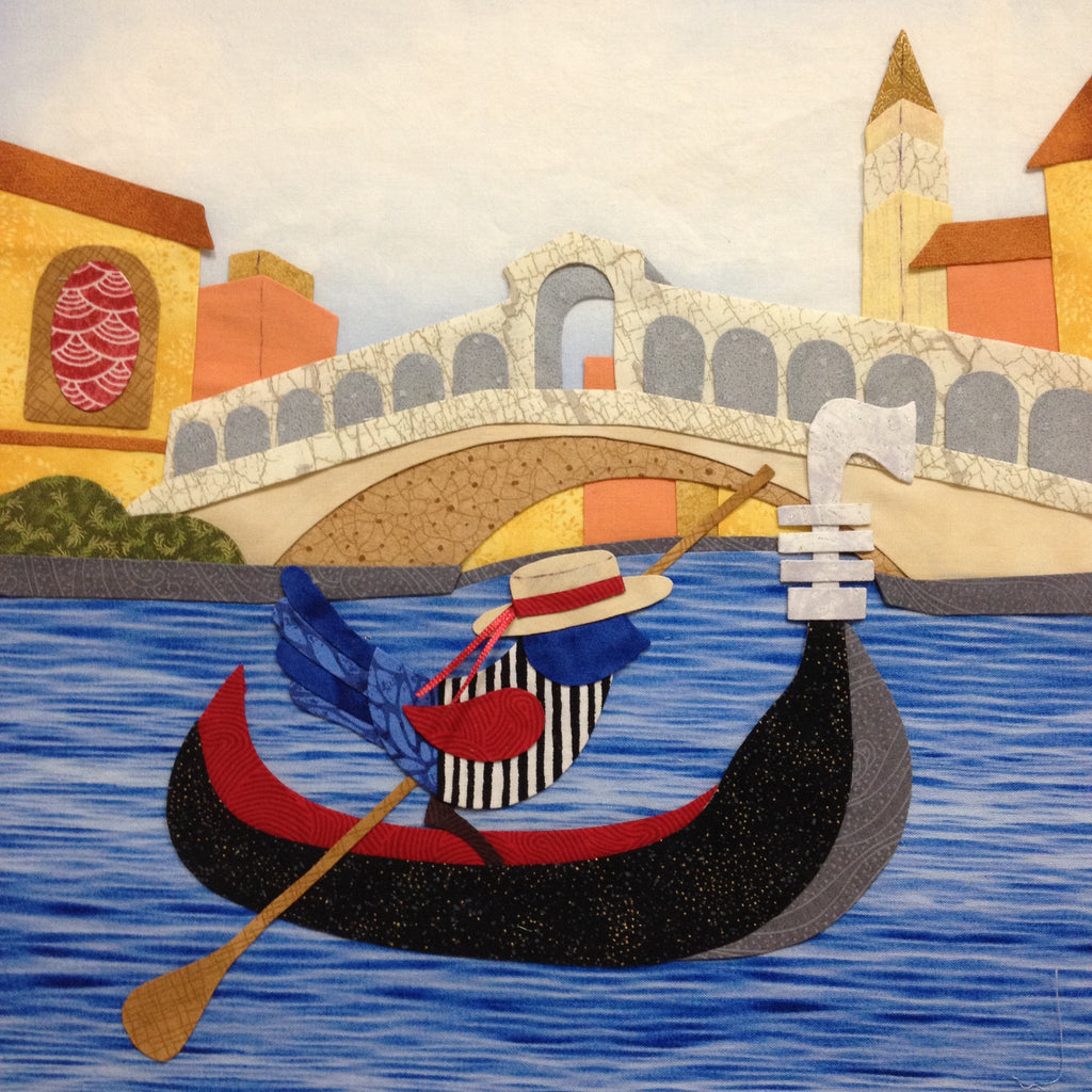 Bluebird Travel Agency - 10 Venice  Pattern - StoryQuilts.com