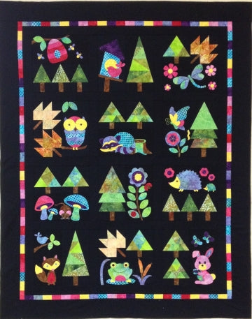 Woodland Critters - 13 Trees and Finishing  Pattern - StoryQuilts.com