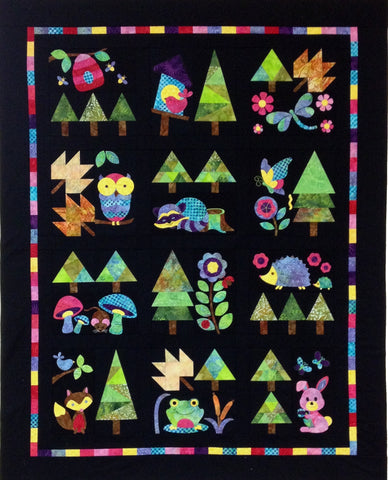 Woodland Critters Complete Set  Pattern - StoryQuilts.com