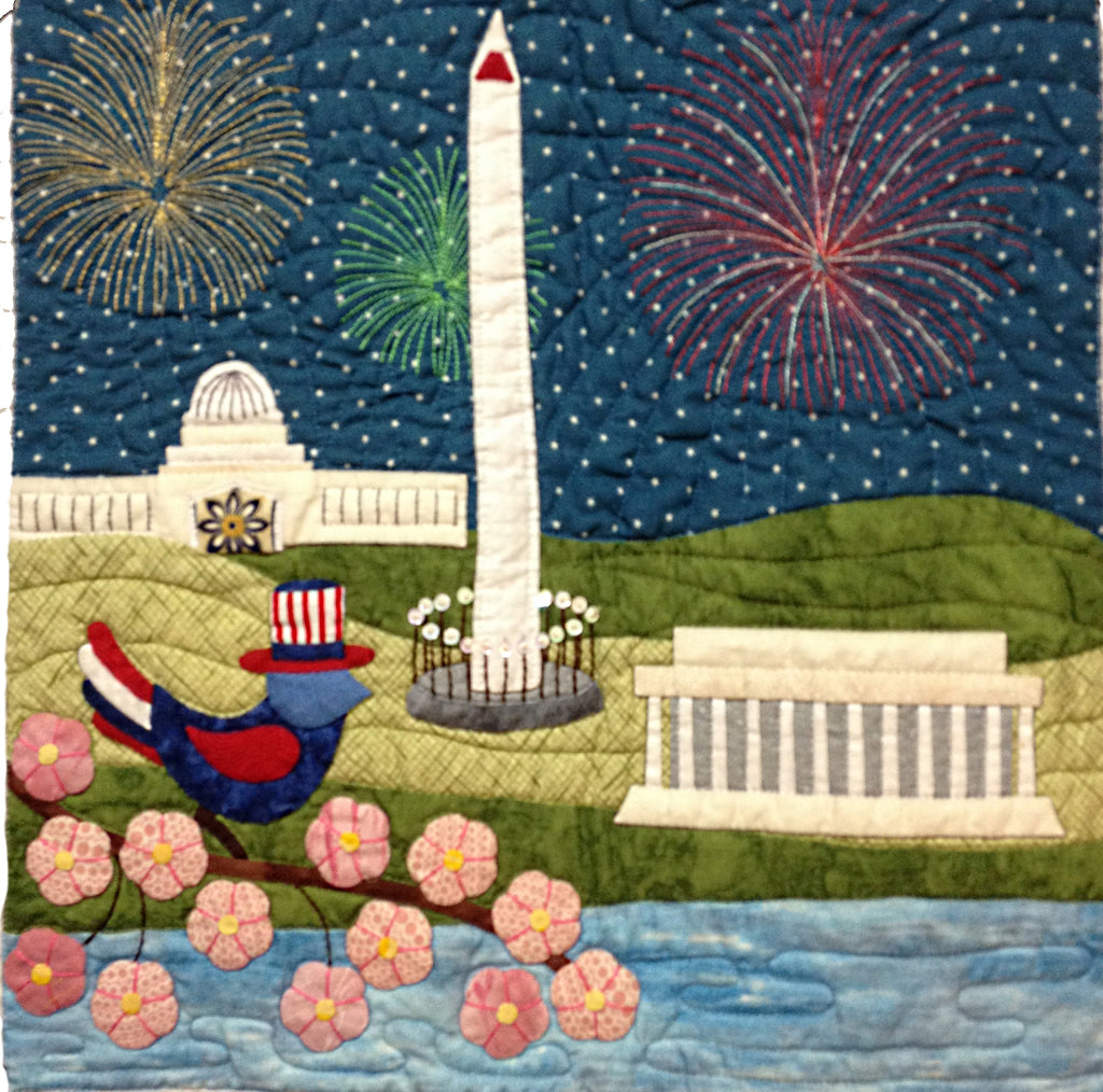 Bluebird Travel Agency - 13 Washington DC  Pattern - StoryQuilts.com