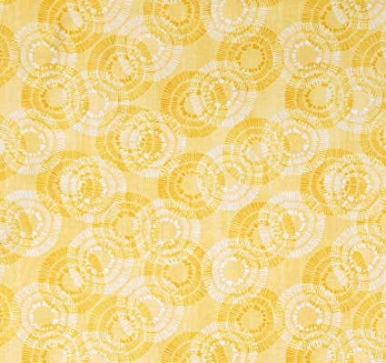 Sing Your Song Yellow Circles and Dots  Fabric - StoryQuilts.com