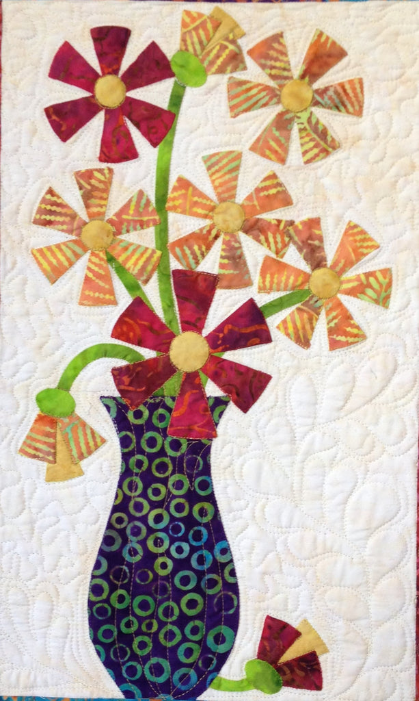Flowers from Tangiers – Zinnia  Pattern - StoryQuilts.com