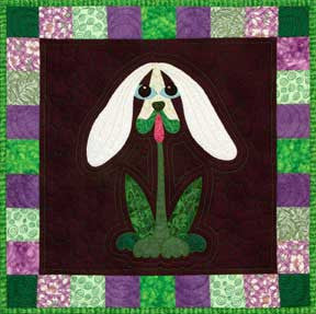 Snowdrop Pup  Pattern - StoryQuilts.com