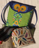 Owl Satchel - on the wild side  Pattern - StoryQuilts.com