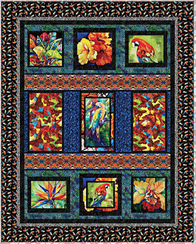 Tropical Parardise Kit  Fabric - StoryQuilts.com
