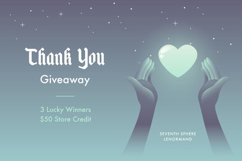 Thank You Giveaway - Win $50 in Store Credit!