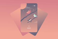 Birds Lenormand Card Meaning and Combinations