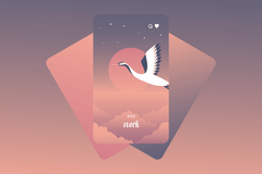 The Stork Lenormand Card Meaning and Combinations