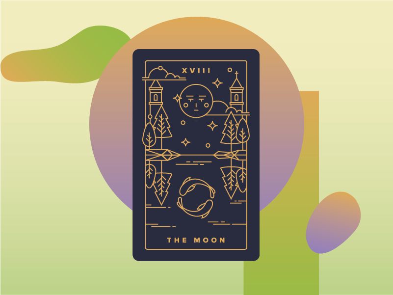 The Moon Meaning - Major Arcana Tarot Card Meanings