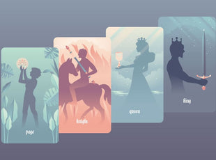 Tarot Court Card Elements and Zodiac Signs - Correspondences Infographic